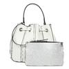 Dámska biela kabelka v štýle Bucket Bag bata, biela, 961-1964 - 26
