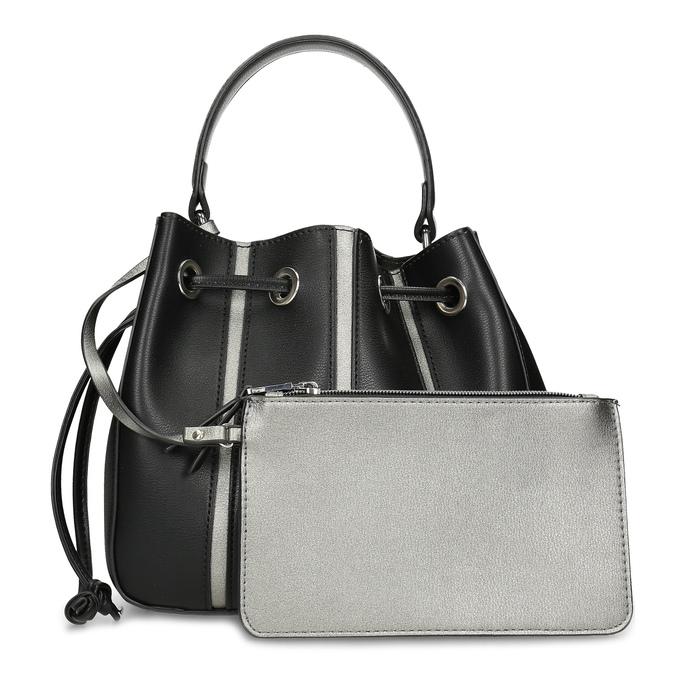 Čierna kabelka v štýle Bucket Bag bata, čierna, 961-6964 - 26