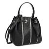 Čierna kabelka v štýle Bucket Bag bata, čierna, 961-6964 - 13