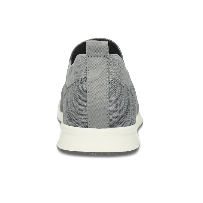 Pánske šedé úpletové slip-on tenisky bata-red-label, šedá, 839-2605 - 15
