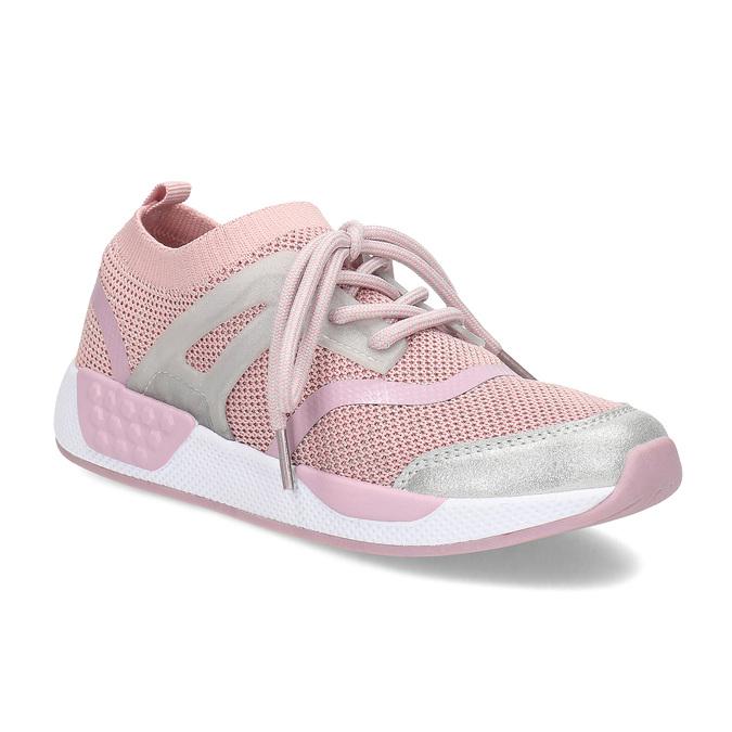 Ružové detské tenisky v pletenom dizajne mini-b, ružová, 329-5282 - 13