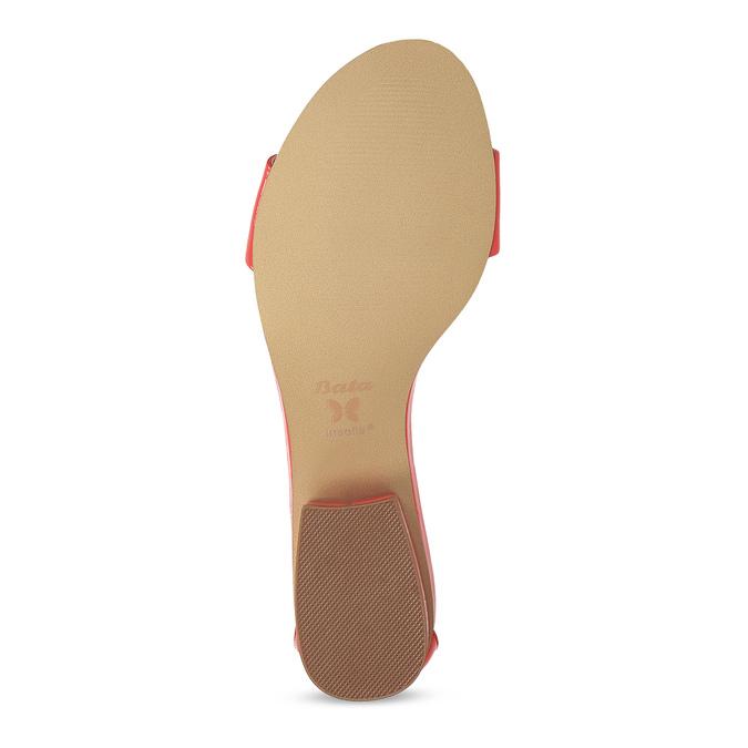 Dámske sandále na nízkom podpätku insolia, červená, 661-5620 - 18