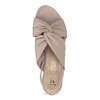 Dámske béžové sandále na nízkom podpätku insolia, béžová, 661-8621 - 17