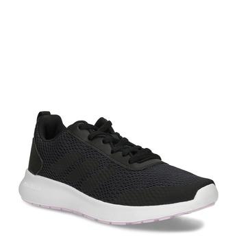 Dámske čierne tenisky s bielou podrážkou adidas, čierna, 509-6102 - 13
