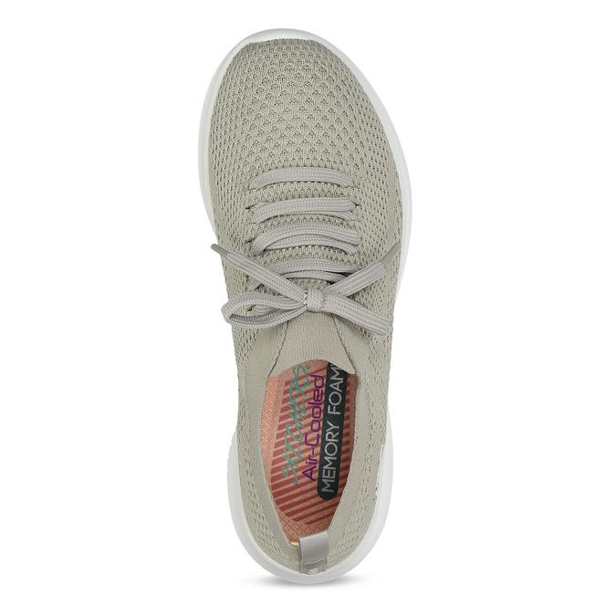 Dámske tenisky v pletenom štýle skechers, šedá, 509-3105 - 17