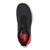 Čierne dámske tenisky s červenými detailami adidas, čierna, 509-2129 - 17