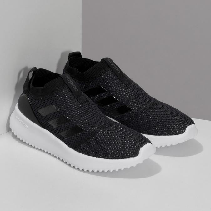 Dámske čierne tenisky s výraznou podrážkou adidas, čierna, 509-6129 - 26