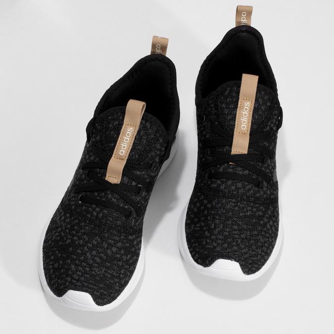 Čierne dámske tenisky s hnedým detailom adidas, čierna, 509-6469 - 16