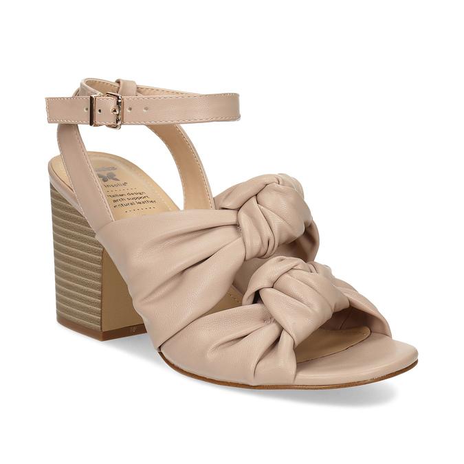 8d205ea12d9b0 Dámske telové sandále na stabilnom podpätku insolia, ružová, 761-8643 - 13