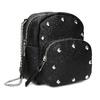 Čierna Crossbody kabelka s retiazkou a s cvočkami bata, čierna, 961-6965 - 13