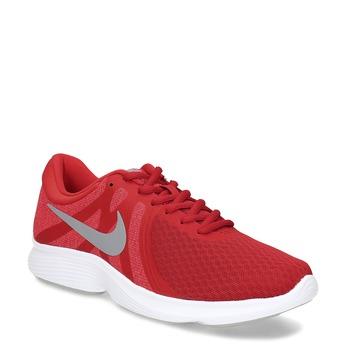 Červené pánske tenisky s bielou podrážkou nike, červená, 809-5100 - 13