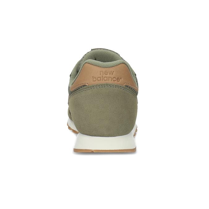 Zelené pánske tenisky z brúsenej kože new-balance, zelená, 803-7100 - 15