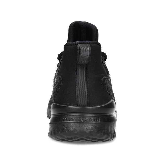 Pánske čierne tenisky s vykrojením nike, čierna, 809-2105 - 15