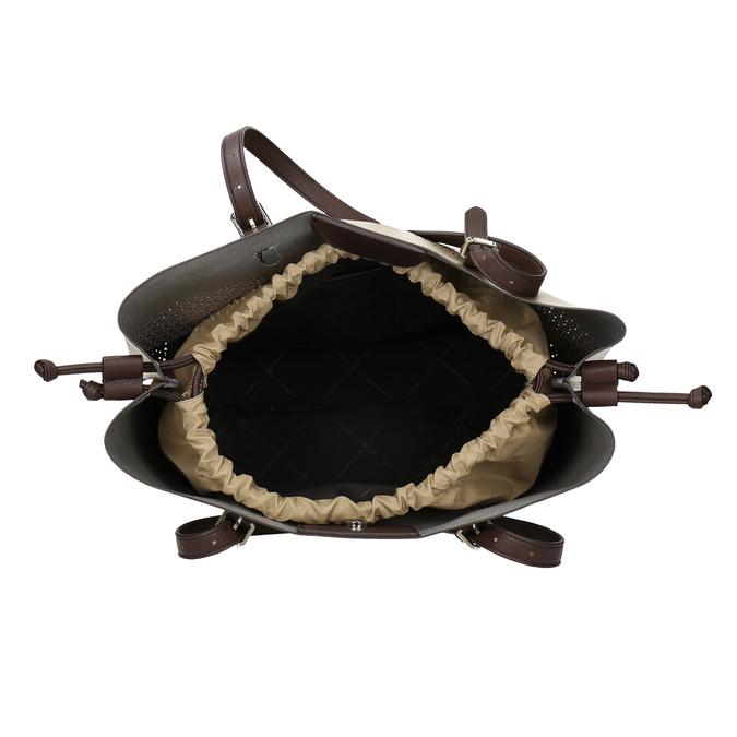 Zlatá dámska kabelka s perforáciou bata, zlatá, 961-8866 - 15