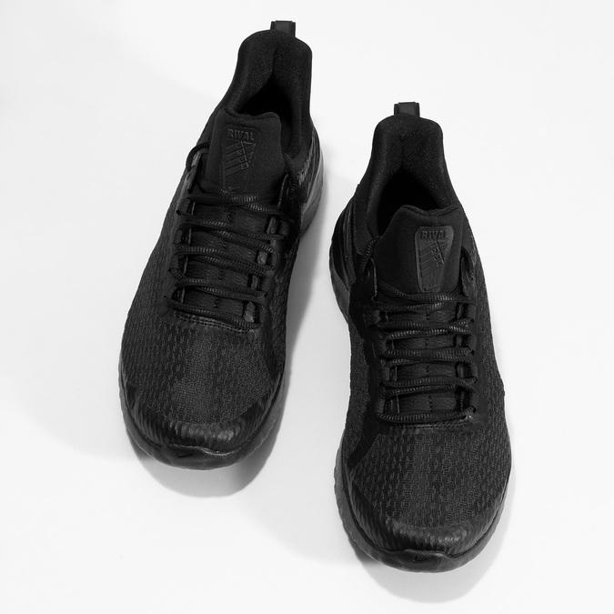 Pánske čierne tenisky s vykrojením nike, čierna, 809-2105 - 16