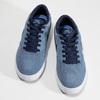 Modré pánske tenisky z brúsenej kože nike, modrá, 803-9106 - 16