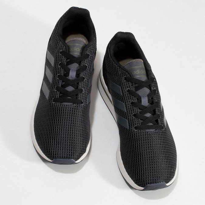 Pánske čierne tenisky všportovom štýle adidas, čierna, 809-6209 - 16