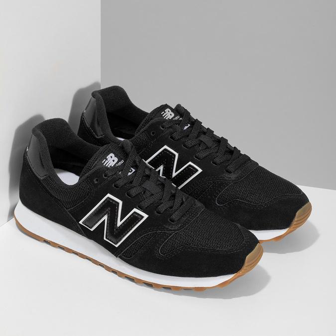 Čierne dámske kožené tenisky new-balance, čierna, 503-6114 - 26