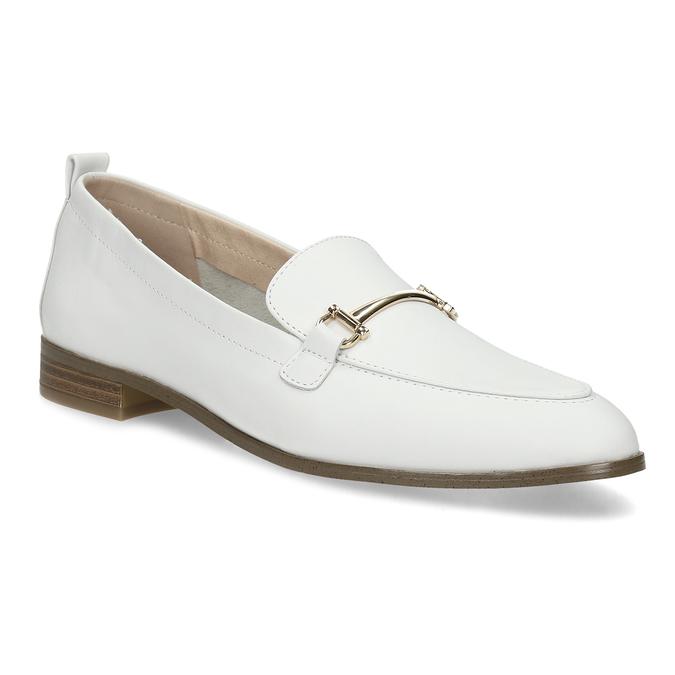 2a8582398 Biele kožené mokasíny bata, biela, 524-1616 - 13