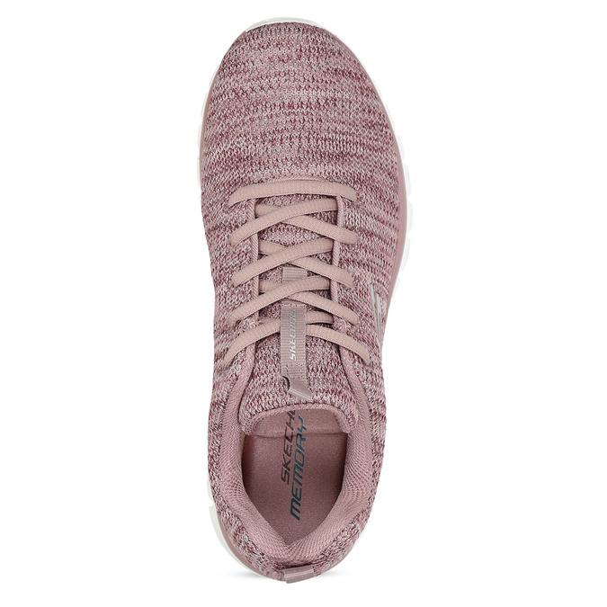 Dámske ružové tenisky so žíháním skechers, ružová, 509-5164 - 17