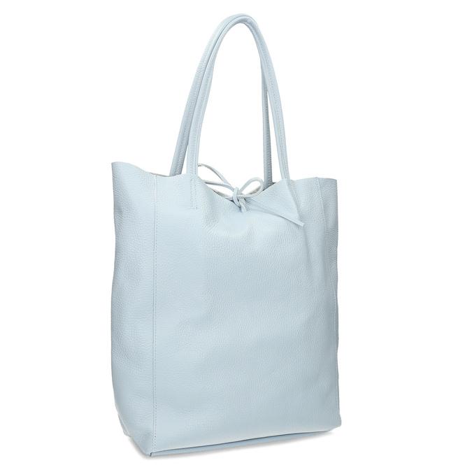 Svetlomodrá kožená kabelka bata, modrá, 964-9162 - 13