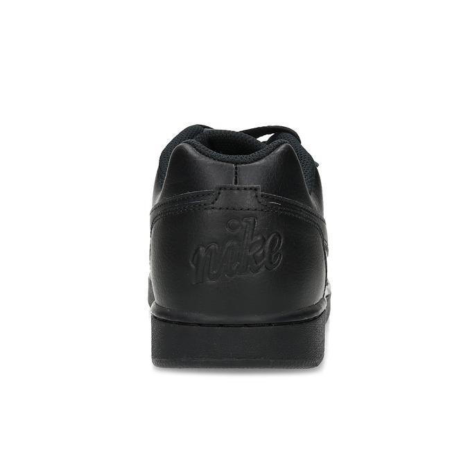 Pánske ležérne čierne tenisky s prešitím nike, čierna, 801-6124 - 15