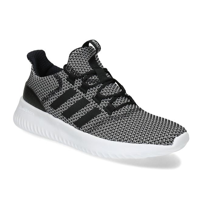 Čiernobiele pánske tenisky s výraznou podrážkou adidas, čierna, 809-6304 - 13