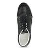 Čierne dámske tenisky na pruhovanej flatforme bata-light, čierna, 621-6656 - 17