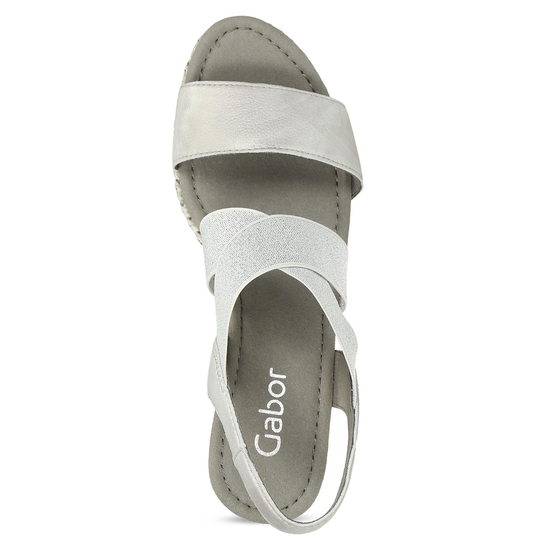 ec55e36ccd59b ... Strieborné dámske sandále na platforme gabor, strieborná, 769-1645 - 17  ...