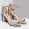 Béžové dámske sandále na stabilnom podpätku bata-red-label, béžová, 769-8641 - 26