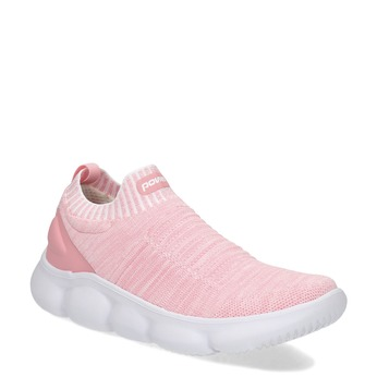 Ružové dámske tenisky z úpletu power, ružová, 509-5236 - 13