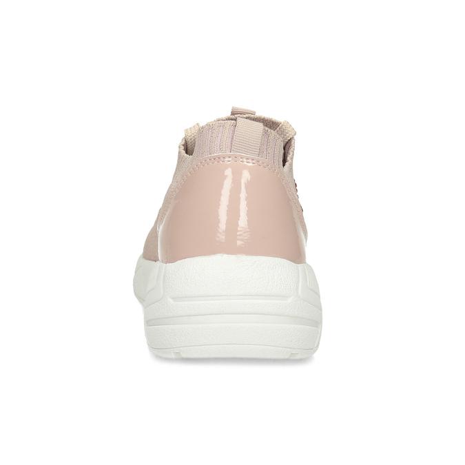 Dámske tenisky ružové s kamienkami bata-light, ružová, 549-5615 - 15