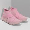 Členkové ružové dámske tenisky z úpletu power, ružová, 509-5237 - 26