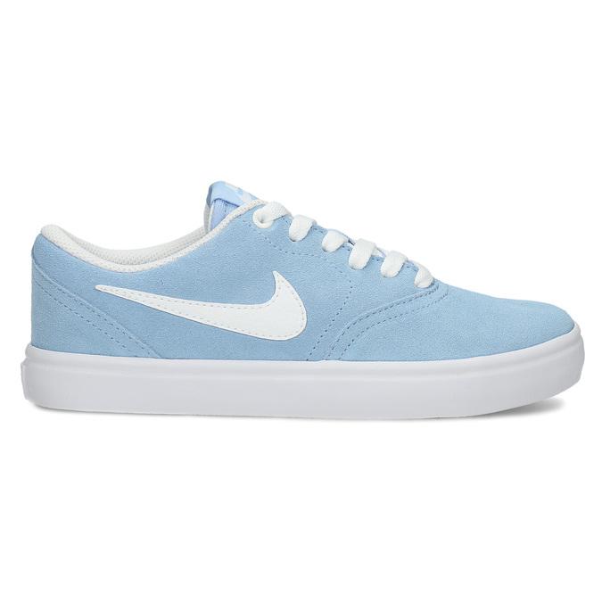 Svetlomodré kožené tenisky nike, modrá, 503-9102 - 19