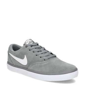 Sivé pánske tenisky z brúsenej kože nike, šedá, 803-2106 - 13