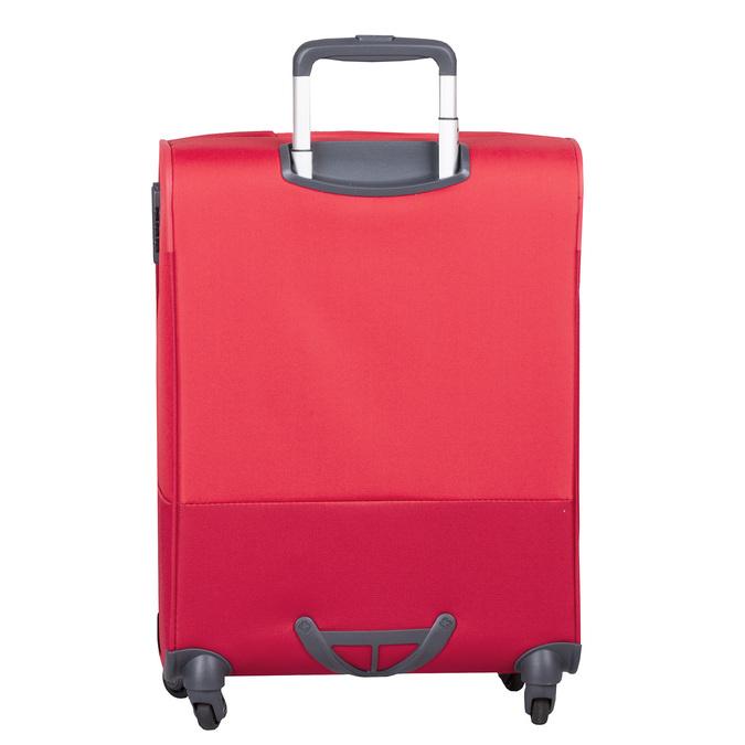 Kvalitný červený textilný kufor samsonite, červená, 960-5037 - 26