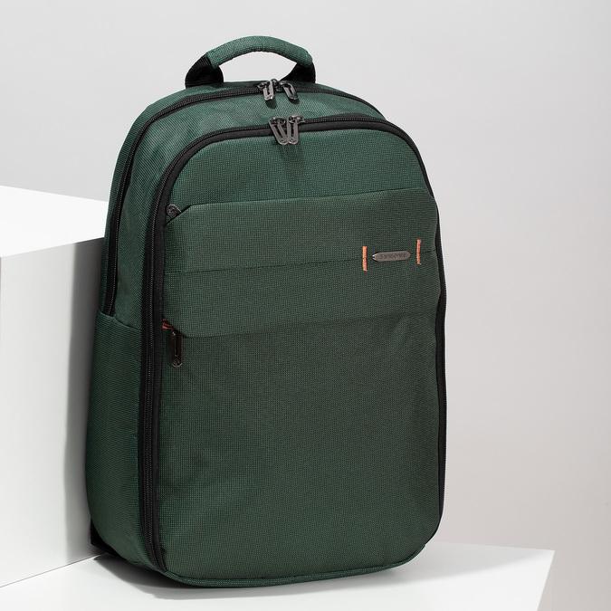 Veľký zelený cestovný batoh samsonite, zelená, 960-7066 - 17