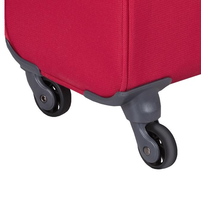 Červený stredný textilný kufor samsonite, červená, 960-5039 - 15