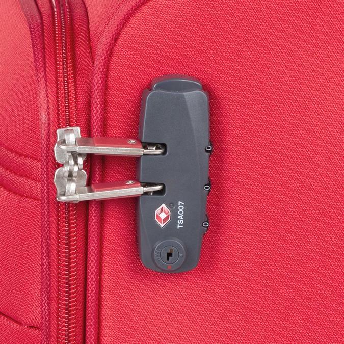 Kvalitný červený textilný kufor samsonite, červená, 960-5037 - 16