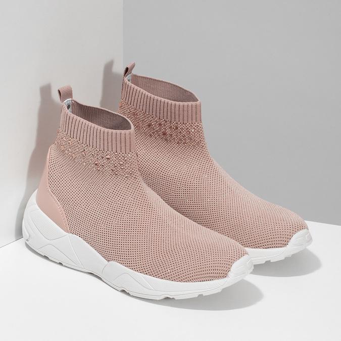 Dámske členkové tenisky ružové bata-light, ružová, 599-5628 - 26