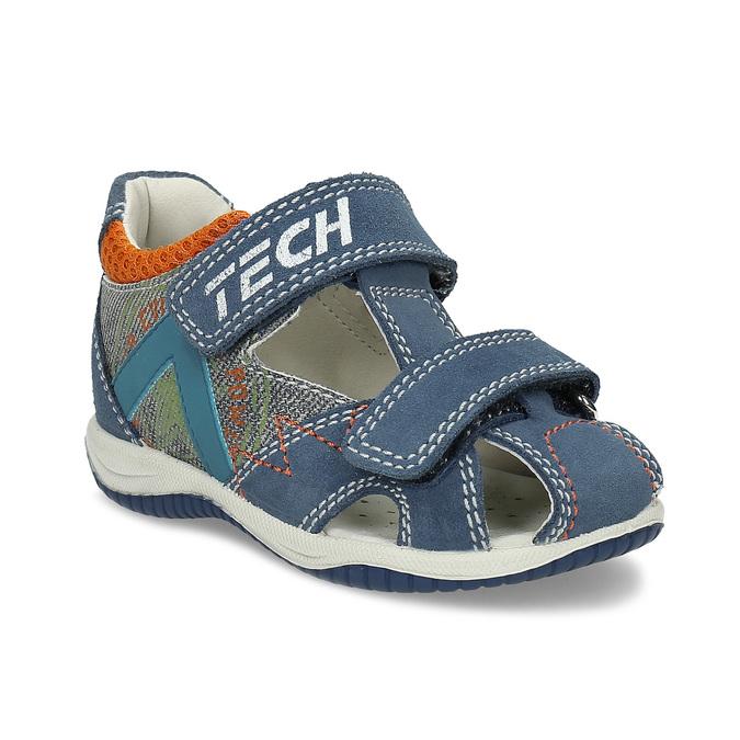 0eaa4ae1c6f5 Bubblegummers Modré kožené detské sandále na suchý zips - Deti