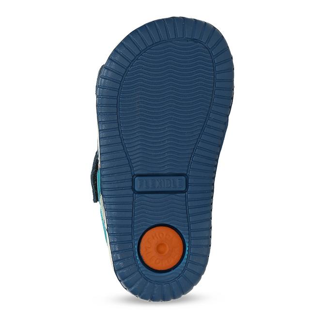 287762151f25d Modré kožené detské sandále na suchý zips bubblegummers, modrá, 163-9630 -  18
