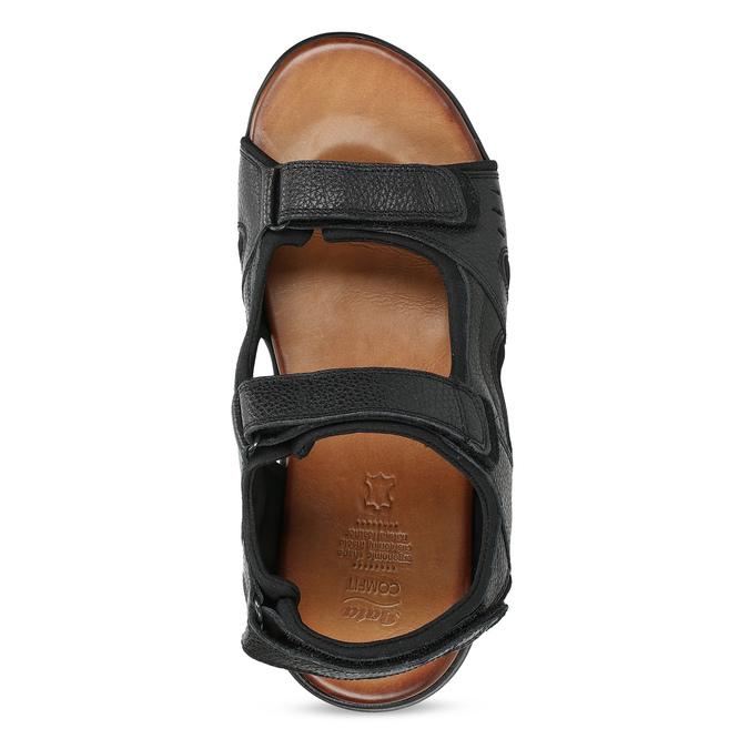 Pánske sandále kožené comfit, čierna, 864-6732 - 17