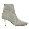 Dámske členkové topánky s metalickým podpätkom bata-b-flex, šedá, 799-2648 - 19