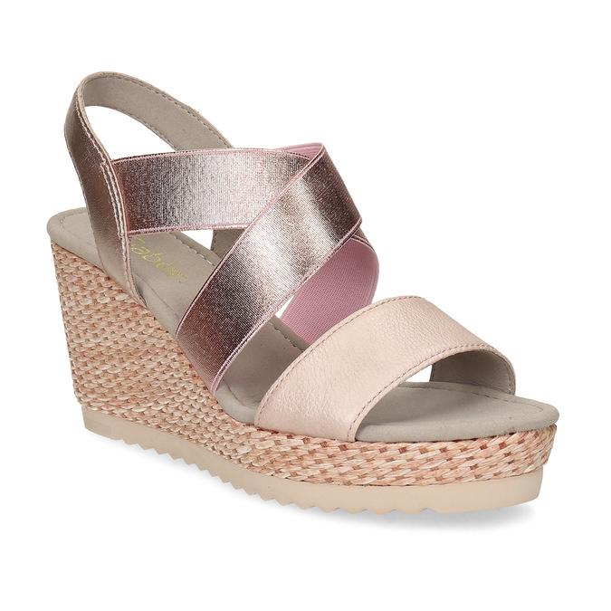 b1ea2c6e26 Gabor Ružové dámske sandále na prírodnej platforme - Ženy