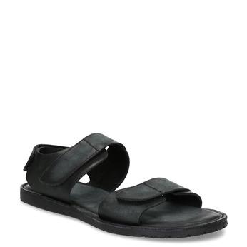 Čierne pánske kožené sandále bata, čierna, 866-6633 - 13