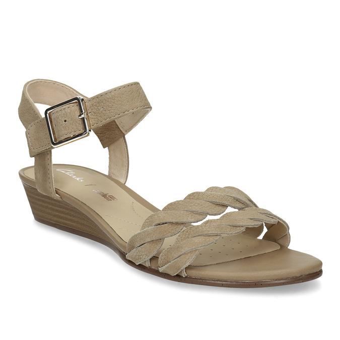 c4b0ceca3ffc Clarks Hnedé kožené sandále na prírodnej platforme - Všetky topánky ...