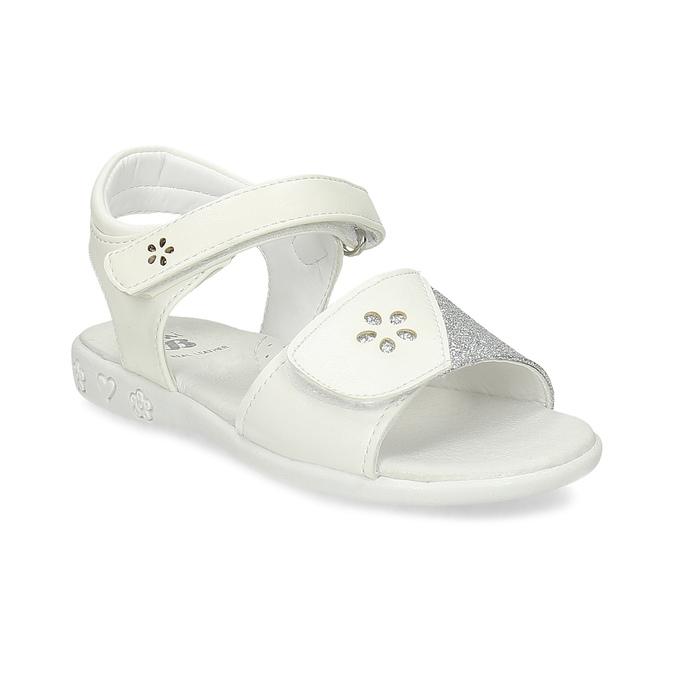 fe254ecf1 Mini B Biele detské sandále na suchý zips - Všetky dievčenské ...