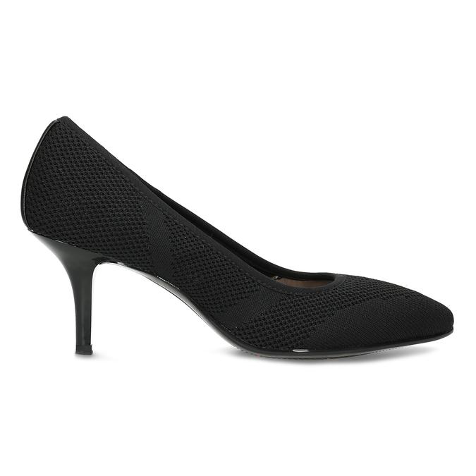 Čierne ležérne dámske lodičky s perforáciou bata-b-flex, čierna, 729-6641 - 19
