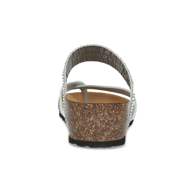 184b2461db9a6 ... Kožené sandále na kline s kamienkami bata, biela, 666-1600 - 15 ...
